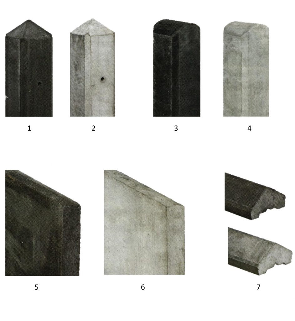 Tuinschermen met betonpalen of houten palen reesink hoveniers - Te vernieuwen zijn houten trap ...