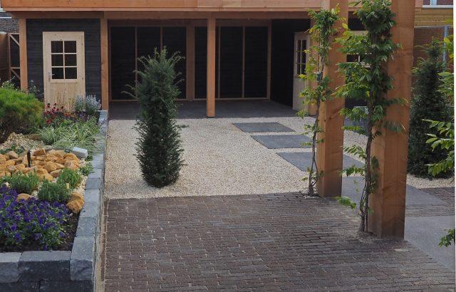 Dubbel tuinhuis met pergola