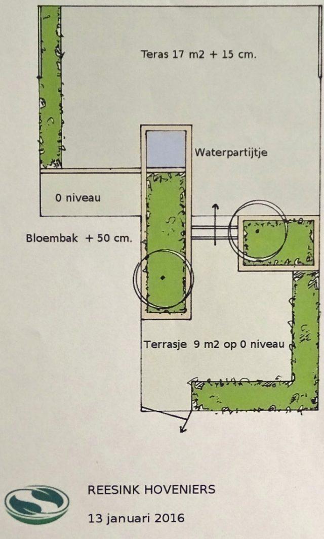 Ontwerp voor terrasbestrating