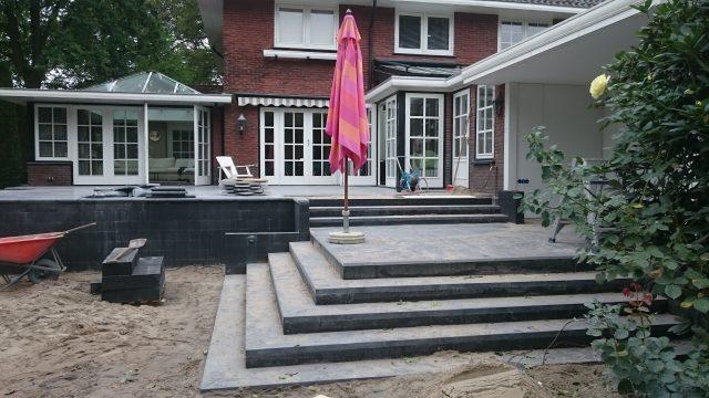 Bordesaanleg met veranda