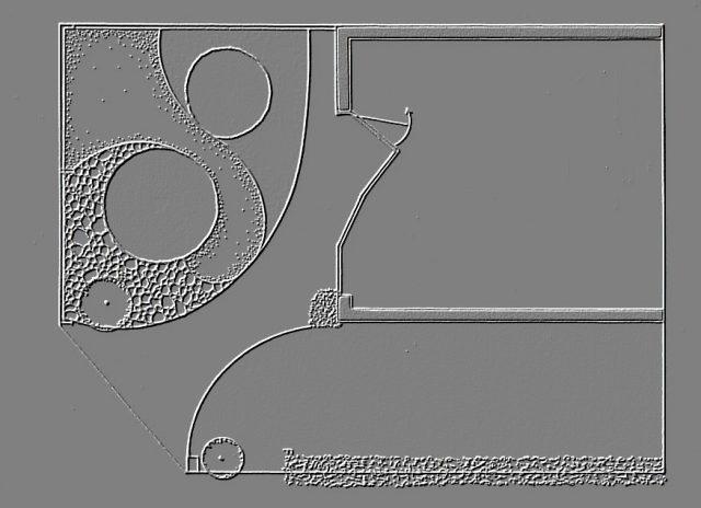 ontwerp voor bestrating i.c.m. half-verharding entree
